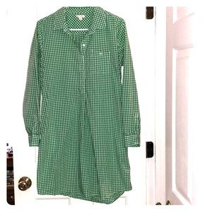 Green gingham print Gap dress